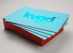 kvgd card #edge #stamp #business #card #color #stationery #foil