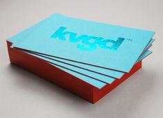 kvgd card #edge #stamp #business #card #color #stationery #foil