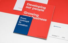mb real estate market construction business card blue red logo logotype branding corporate design identity mindsparklemag design