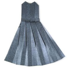 How to make an origami dress II (http://www.origami-make.org/howto-origami-dress.php)