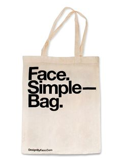 Face Bag — Design by Face. #bag #screen #helvetica #print