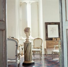 Cy Twombly's House in Rome, by Horst P. Horst #interiors