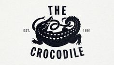 The Crocodile Sleep Op #crocodile #white #serif #san #black #snake #simple #logo