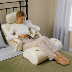 The BedLounge Hypoallergenic Bed Rest Pillow #pillow #home