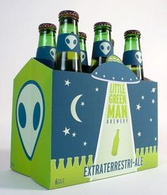 Little Green Man Brewery #brewery #beer #packaging #little #man #green