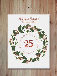 West end girl #poster #calendar #christmas #wreath #25 days