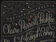 Typeverything.com Claire & Mikes Wedding Invitation by Kelly Thorn #stationary #wedding