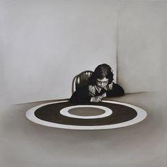 Target Practice #2, 62cm x 62cm, Oil on Linen