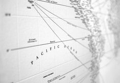 Design Ahoy #minimalism #map #typographics