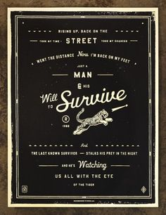 FFFFOUND! | NeighborhoodStudio — Will to Survive #poster #typography