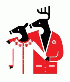 All sizes | Warm Wishes from AWH | Flickr - Photo Sharing! #illustration #deer #minimalism