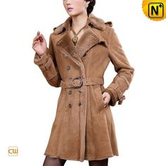 Ladies Shearling Coat Spanish Merino CW640213 #ladies #shearling #coat