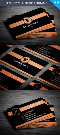 Free Orange Business Card Template