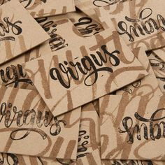 Virgulillas Studio Barcelona #calligraphy #lettering #branding #business #card #design #graphic #craft #brand #virgulillas #studio #virgus #barcelona #personal #typography