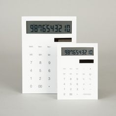 Slim Calculator | Goods | The Ghostly Store #product #design