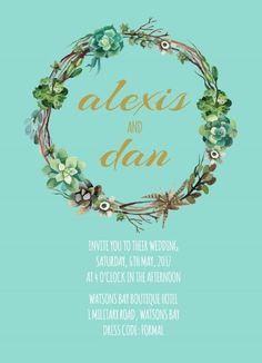 Succulence - Wedding Invitations #paperlust #weddinginvitation #weddingstationery #weddinginspiration #card #design #paper #digitalcard #le