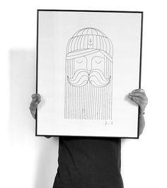 EMILKOZAK.COM #character #illustration #blackwhite #poster