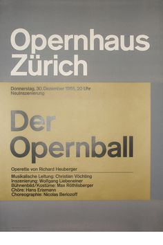 Josef Müller-Brockmann DER OPERNBALL [ 128CM X 90CM ] via www.blanka.co.uk
