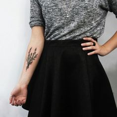 Likes | Tumblr #blouse #black #skirt #tattoo #grey