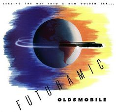 Plan59 :: Classic Car Art :: Futuramic Oldsmobile #futuramatic #oldsmobile
