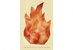 Kara Smarsh #design #geometric #kara #polygonal #poster #flame #smarsh