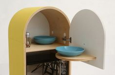 Capsular Microkitchen by LO-LO_1 #kitchen #compact living