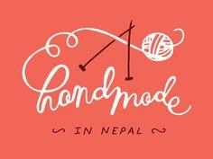 handmade in nepal #lettering