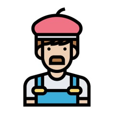 See more icon inspiration related to artist, career, job, professions and jobs, profession, painter, occupation, user, avatar, profile, people and social on Flaticon.