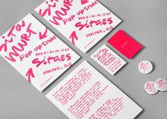 Sita Murt / Identitat Sita Murt Pop Up Store / Moda #lettering #branding #identity #brush #stationery