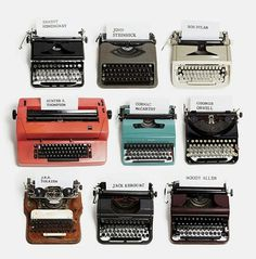 this isn't happiness™ (Typewriters of Writers), Peteski #hemmingway #steinbeck #tolkien #kerouac #dylan #orwell #typewriter