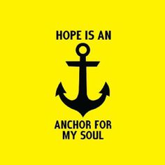Hope is an Anchor #design #typography #type #church #hope #anchor