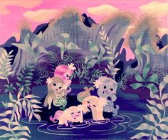 Peter Pan Mermaids Mary Blair #illustration #childrens #vintage #books