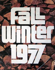 Sears fall + winter catalog 1977 #typography