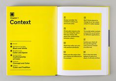 Each chapter opens with eight guidelines for using color related to the topic at hand. #spread #color