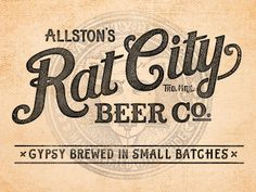 Rat City Beer #logo #ratcity #vintage #beer