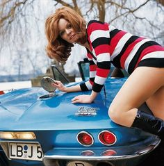 Girls and Classic Car Advertisements #model #cars #vintage #girl