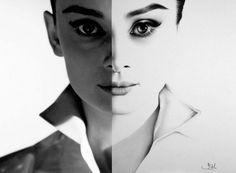 30 Hyper Realistic Pencil Drawings by Ileana Hunter #hepburn #drawing #illustration #art #audrey #pencil #sketch