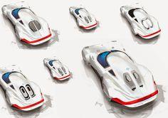 JNKDESIGNWORKS: Porsche type 64 development sketches