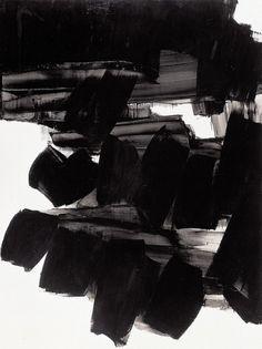 - bleu rouge noir blanc, Pierre Soulages — Designspiration #bw