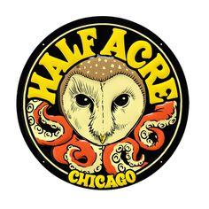 Half Acre Chicago Logo #owl #octopus #circle #illustration