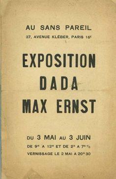 Exposition Dada Max Ernst