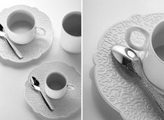 Dressed by Marcel Wanders for Alessi (NOTCOT) #plate #marcel #porcelain #alessi #dressed #kitchen #cup #wanders