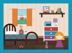 Playhaus_03_bedroom #illustration