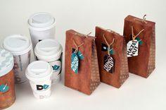 Demitasse Creamery on Behance #branding #packaging #cream #ice #identity #coffee #logo #minimalist #cup