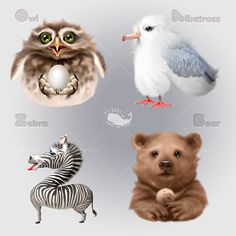 http://alfoart.com/animals_characters_1.html Learn how to create cute and funny animals characters by using simple tools and techniques. Thi