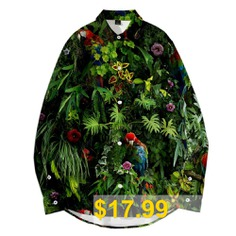 WAWNI #Casual #3D #Long #Sleeve #Fashion #Shirt #Flower #Print #Thin #Shirt