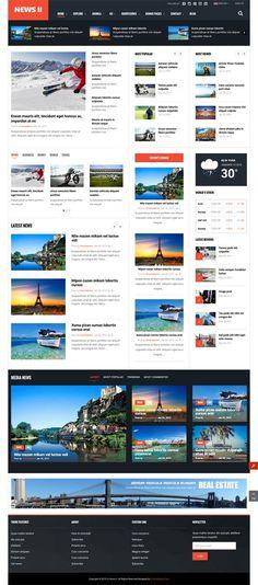 SJ News II – Free Responsive Joomla Template for News Portal