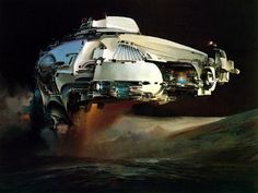 John Berkey spaceship #abstract #spaceship #john #painting #berkey
