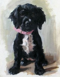 Nicola Jane Philipps (Nicky) | Portrait Commissions #portrait #painting #dog