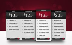 Pricing Table PSD #psd #web